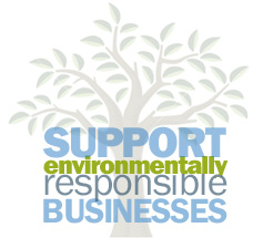 Support Environmentally Responsible Businesses Logo
